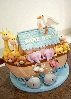 Baby Shower Cake - For all your baby cake decorating supplies, please visit… Baby Cakes, Baby Shower Cakes, Baby Shower Pasta, Baby Shower Themes, Baby Boy Shower, Cupcake Cakes, Shower Ideas, Decorating Supplies, Cake Decorating