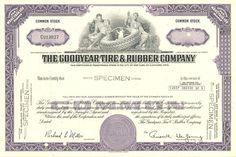 Goodyear Tire & Rubber Company Specimen
