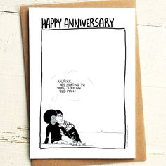 Starting to get that Old Man smell Anniversary Card - Brutally Honest Cards | Offensive | Offensive Anniversary | Happy Anniversay, Old Man by iamstevestewart on Etsy