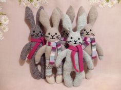 MarmaladeRose  -- bunnies made from old sweaters