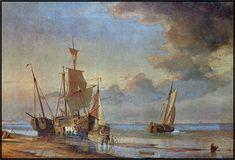 Kolvig overtager færgeriet Den store færgebåd på vej. Maleri af Viggo Faurholdt.