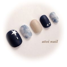 Twinkle, twinkle, little star. Star Nails, Star Nail Art, My Nails, Aloha Nails, Subtle Nail Art, Fingernails Painted, Nail Tattoo, Chic Nails, Toe Nail Designs