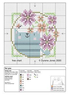 Gwen Street Designs Cross Stitch Pattern Printed Graph Peacock Parade New X-Stitch