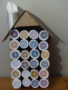 1000 images about calendrier de l 39 avent on pinterest - Calendrier de l avent rouleau papier toilette ...