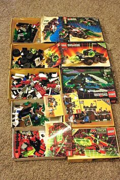 5 Early 90s LEGO Space Sets Mini Figures Plus by TheModPasse, $140.00