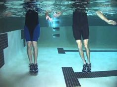Shallow Water Plyometrics. Great for improving strength and explosive power will being kind to your joints.