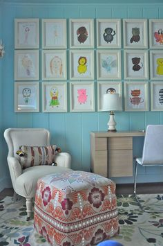Ive always been drawn to shots of bright, clear sky blue in kids spaces. Here are a few of my...