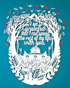 #sarahdennis #newdivision #illustration #paperart #decorative #papercut #typography #leaves