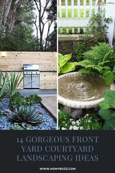 14 Gorgeous Front Yard Courtyard Landscaping Ideas - HomyBuzz
