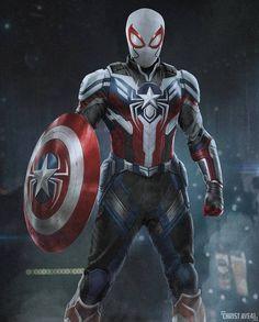 New Spiderman Suit, Spiderman Art, Amazing Spiderman, Noir Spiderman, Spiderman Poster, Spiderman Drawing, Marvel Films, Marvel Heroes, Marvel Dc
