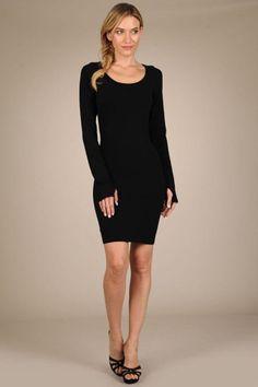 Long Sleeve Dress w/ Thumbholes