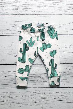 organic baby leggings, baby leggings, baby pants, organic baby clothes, cactus baby, baby girl, baby boy, gender neutral, binky monster