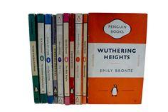 Example of Horizontal striped vintage Penguin books