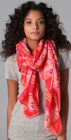 Stay pretty in pink with this effortlessly chic ways to wear using a Theodora & Callum scarf draped loosely around your neck