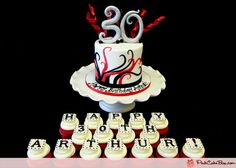30th Birthday Cupcake Topper Cake » Cupcakes