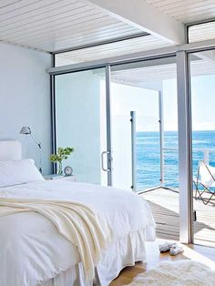 Master bedroom w/ this view