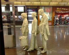 The Commuters by George Segal, 1982, in NYC's Port Authority