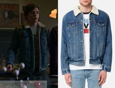 Chilling Adventures of Sabrina: Season 1 Episode 11 Harvey's Blue Sherpa Jacket Sabrina Costume, Harvey Kinkle, Adventure Outfit, Halloween, Blue Denim, Tv Shows, Chilling, Fashion Clothes, Costumes