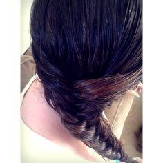 Dark Brown, Fishtailed, Braided Hair