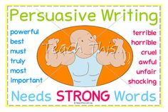 Persuasive Writing Needs Strong Words - Lower Primary