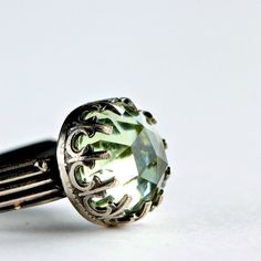 Green Amethyst Cocktail Ring in Sterling Silver by ThirtySixTen, $87.00