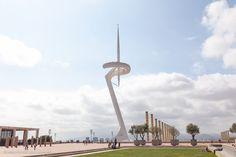 Telekommunikationsturm (http://www.everythingbarcelona.net/sehenswuerdigkeiten/der-olympische-ring-am-berg-montjuic/)