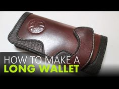 How To Make A Leather Wallet -- FREE Templates Download - YouTube