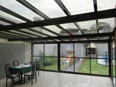 Los techos transparentes y su uso en las terrazas.