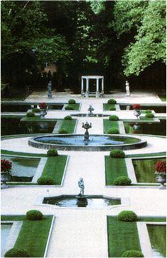 Formal Gardens of OHEKA Castle.