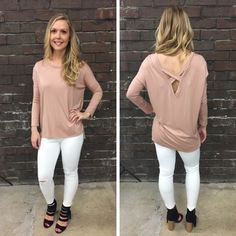 This is the softest top everrrrr! We love the simple back detailing too! - $35 #springfashion #spring  #fashionista #shoplocal #aldm #apricotlaneboutique #apricotlanedesmoines #shopaldm #desmoines #valleywestmall #fashion #apricotlane #newarrival  #shopalb  #ootd #westdesmoines  #shopapricotlaneboutiquedesmoines #ontrend