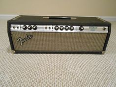 Vintage 1976 Silverface USA Fender Bassman 100 Bass Amplifier Amp Head AWESOME!