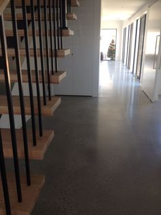 This New Home Was Fantastic To Work With As The Clients Were After An Polished Concrete Flooring