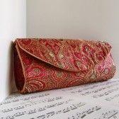 woven handmade wedding clutch purse / bag for bridesmaids #handmade #wedding #bag #clutch
