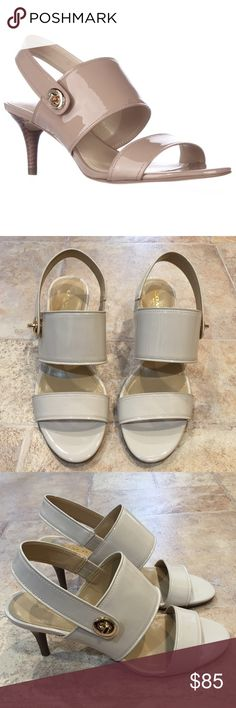 | Coach | Marla Turnlock Slingback Heels NWOT. Never been worn. Excellent condition. Warm blush color. Patent leather. 2.5 inch heel. Coach Shoes Heels