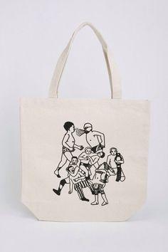 キャンバス地のプロレス柄のトートバッグです。A4サイズが入る大きさです。|ハンドメイド、手作り、手仕事品の通販・販売・購入ならCreema。