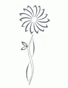 Tribal daisy I drew