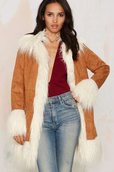 Glamorous Wild Fur The Night Coat | Shop Clothes at Nasty Gal!