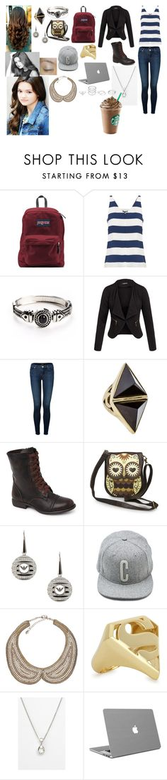 """Untitled #231"" by trustsalvatore ❤ liked on Polyvore featuring JanSport, TIBI, Tt Collection, J Brand, Zimmermann, Black Poppy, Emporio Armani, Jack & Jones, Noir Jewelry and Kwiat"