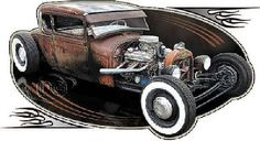 Classic Rat Rod Car Quality T Shirt Mens T Shirt