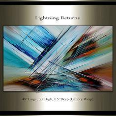 Arte de pared de pintura abstracta arte grande de por largeartwork
