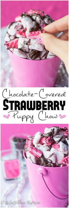 Puppy Chow Chex Mix Recipe ++ Valentine's Day ++ Chocolate Covered St… Puppy Chow Chex Mix Recipe ++ Valentine's Day ++ Chocolate Covered Strawberry Puppy Chow Puppy Chow Recipes, Chex Mix Recipes, Recipe Puppy, Köstliche Desserts, Delicious Desserts, Dessert Recipes, Dessert Food, Party Recipes, Cake Recipes