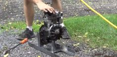DIY Video : How to convert an Old Lawn Mower Engine to Steam from start to finish