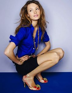 Bold color, awesome shirt, I like everything but the shoes lol