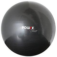 POWRX Gymnastikball Sitzball Deluxe Fitnessball mit Pumpe, Anthrazit, 105 cm, 400081