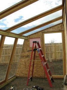 Building a greenhouse on a budget #greenhouses