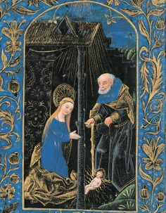 The Nativity from the Black Hours