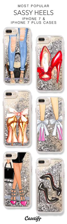 Most Popular Sassy Heels iPhone 7 Cases & iPhone 7 Plus Cases. More Protective Liquid Glitter High Heels iPhone case here > https://www.casetify.com/en_US/collections/iphone-7-glitter-cases#/?vc=GtANrW2Sw4