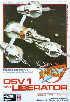 Comet Miniatures - The Liberator - from TV's Blakes 7 - Tony James' company Comet Miniatures was a famous shop in Clapham Junction London. They produced a range of 'garage kits'. This was an injection moulded 'small run' model kit
