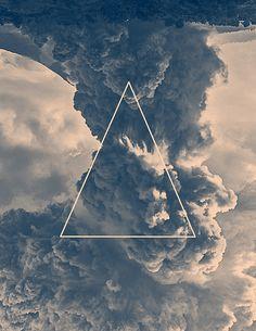 Inverted Cloud Triangle by jackshoegazer