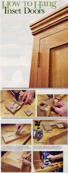 Installing Butt Hinges - Cabinet Door Construction and Techniques   WoodArchivist.com